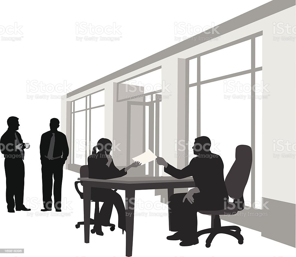 Your Office Vector Silhouette royalty-free stock vector art
