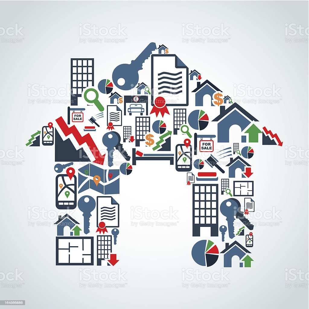 Your own house property service vector art illustration