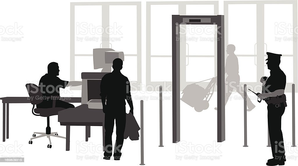 Your Security Vector Silhouette royalty-free stock vector art