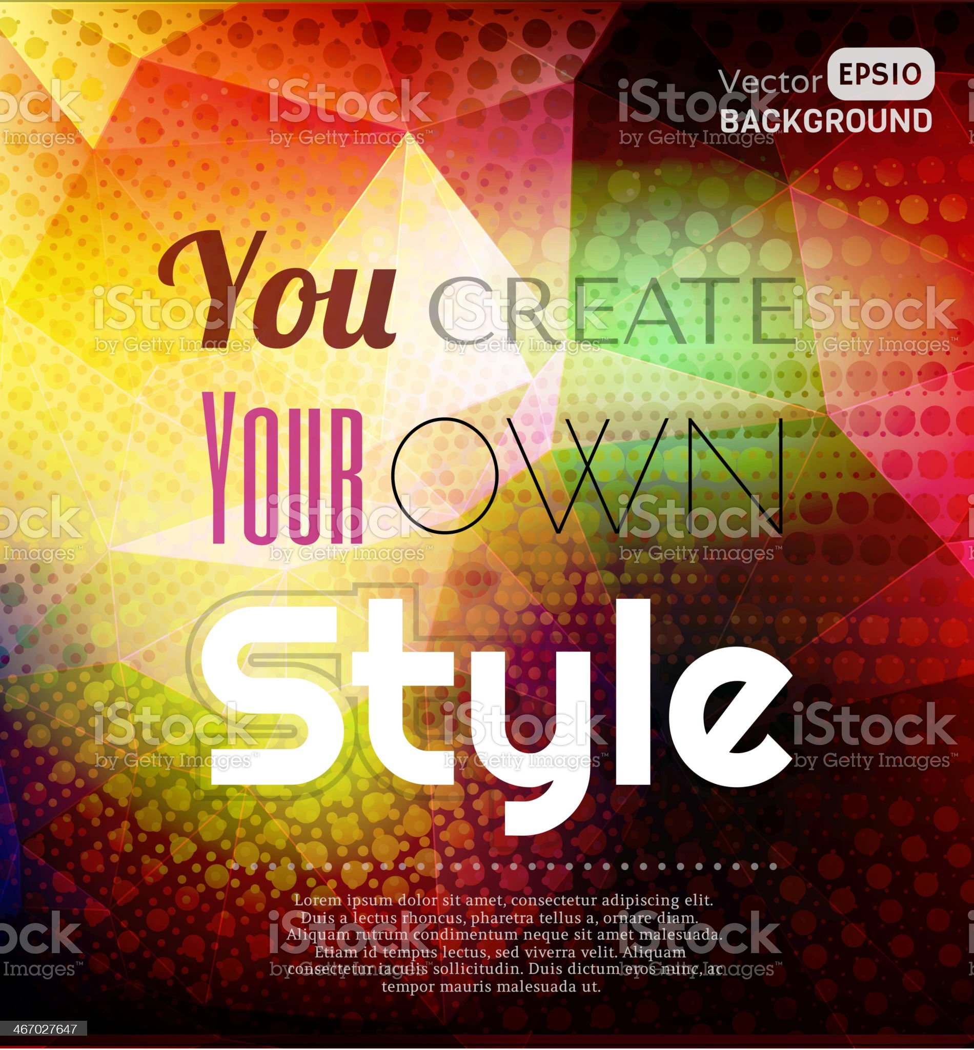 Your style royalty-free stock vector art