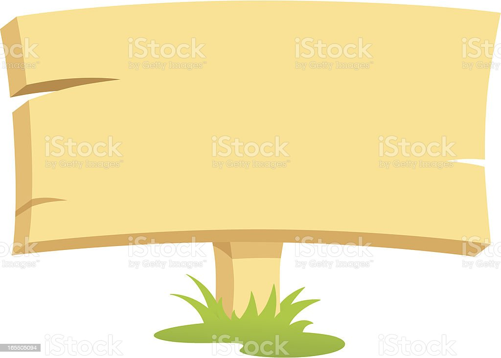Your Wooden Message - incl. jpeg royalty-free stock vector art