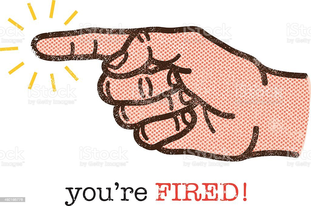 You're fired illustration vector art illustration