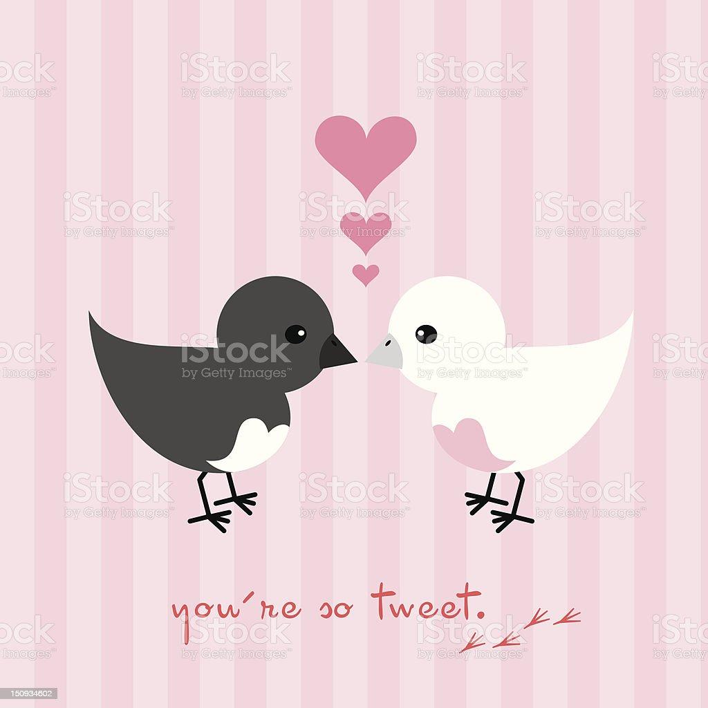 You're so Tweet (Love Birds) vector art illustration