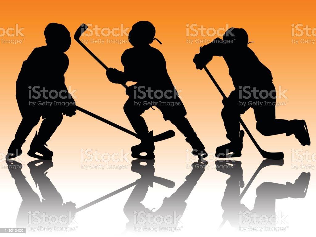 Youth Hockey royalty-free stock vector art