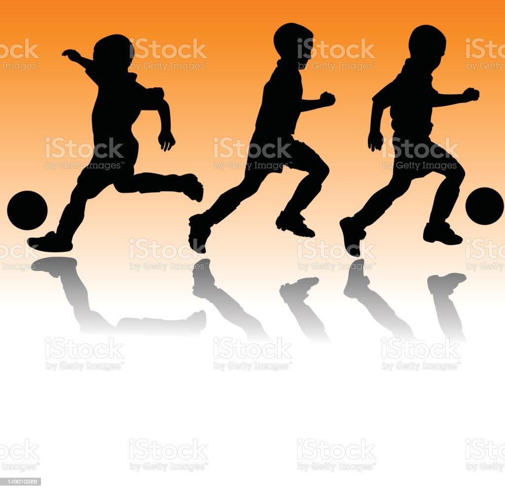 Youth Soccer vector art illustration