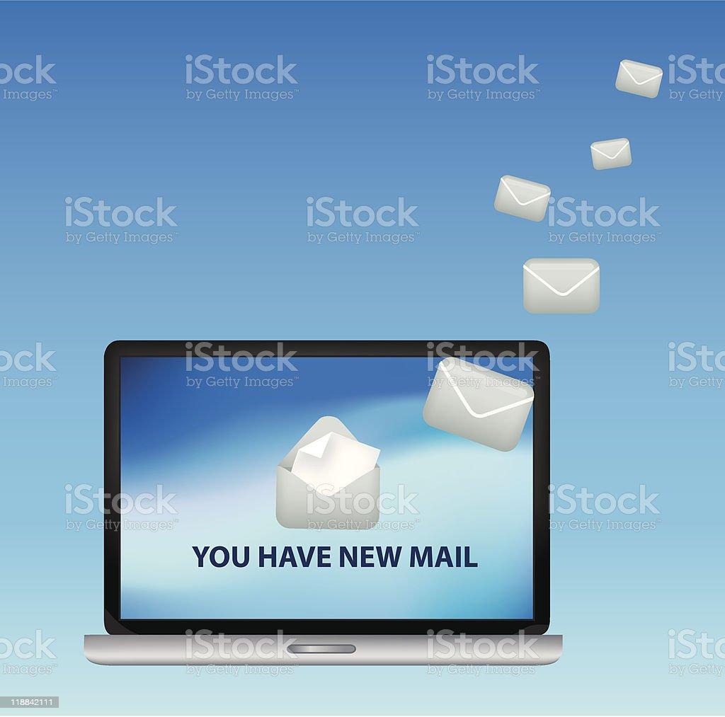 Sie haben neue E-mail Lizenzfreies vektor illustration
