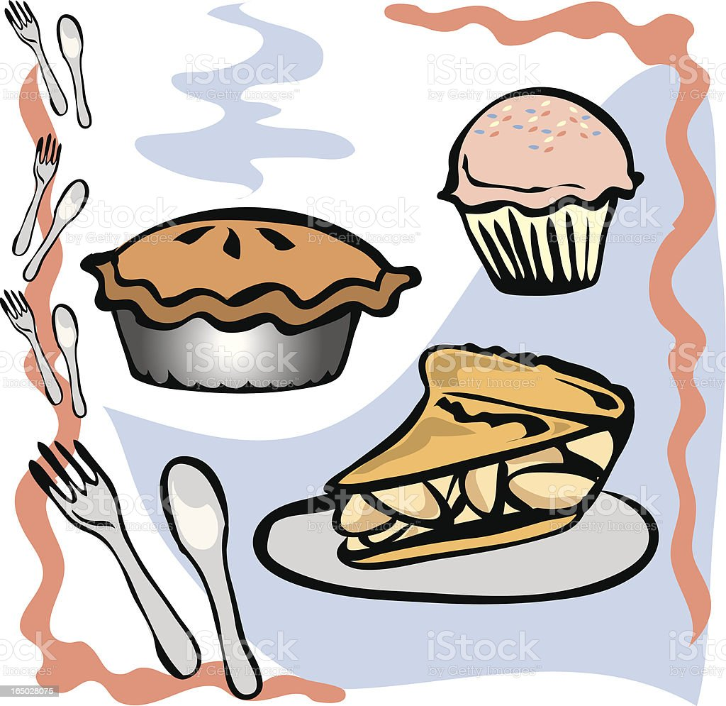 Yummy Desserts royalty-free stock vector art