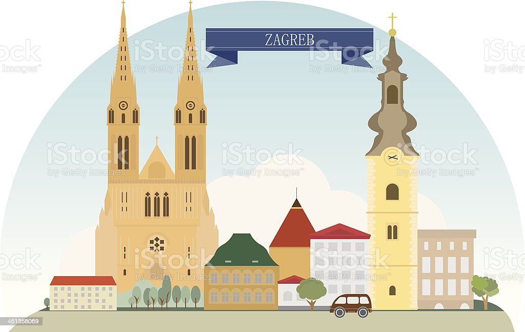 Zagreb royalty-free stock vector art