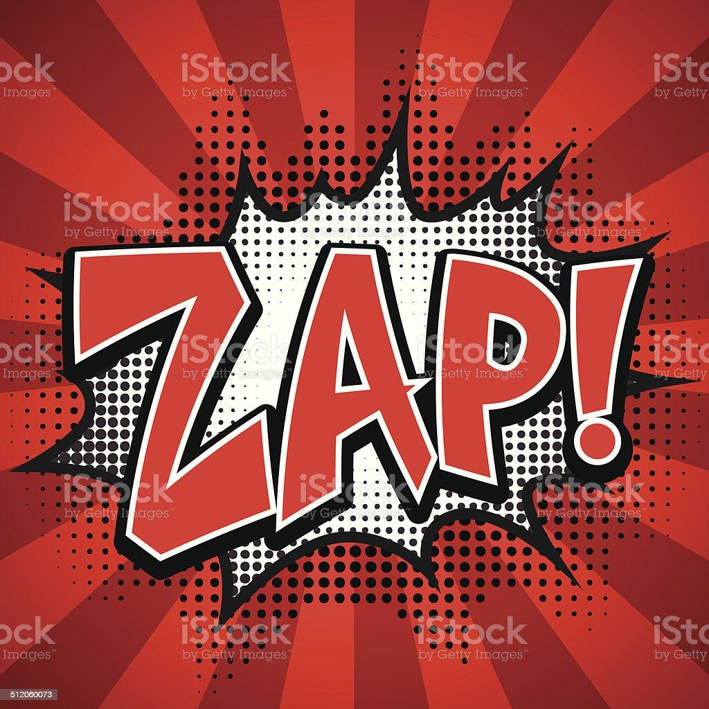zap comic speech Bubble. Vector illustration vector art illustration
