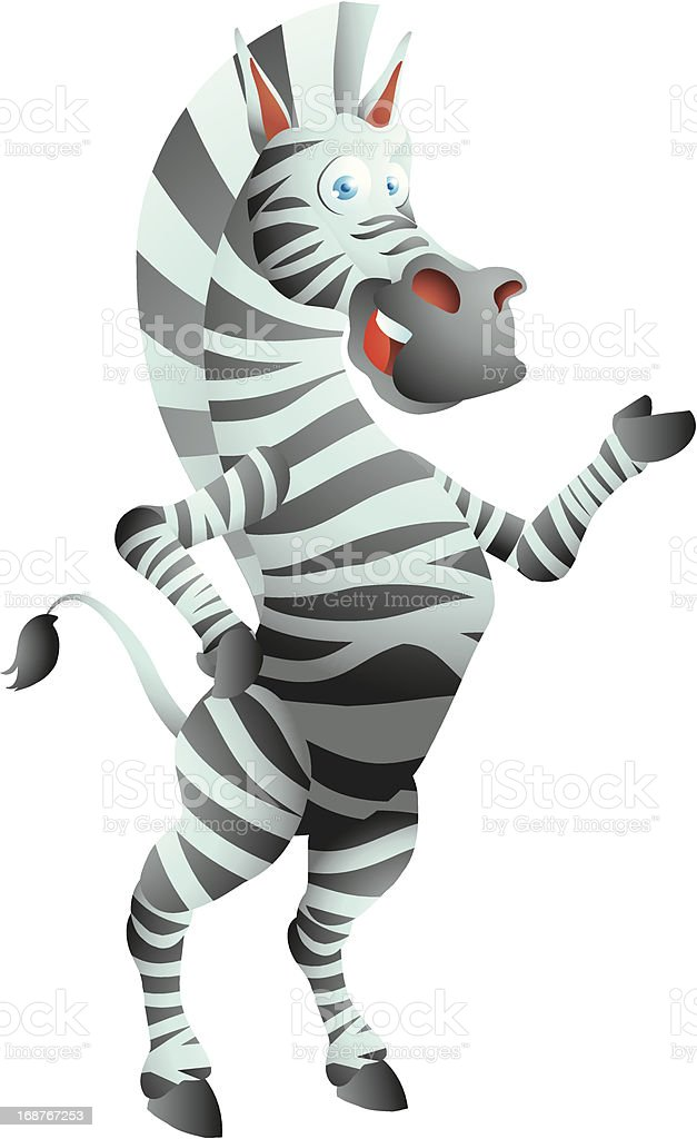 Zebra presenting royalty-free stock vector art