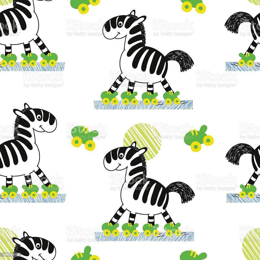 Zebra roller skates - 1 Credit