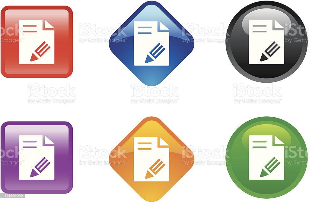 'Zee' Icon Series | Edit File royalty-free stock vector art