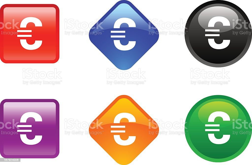 'Zee' Icon Series   Euro Sign royalty-free stock vector art