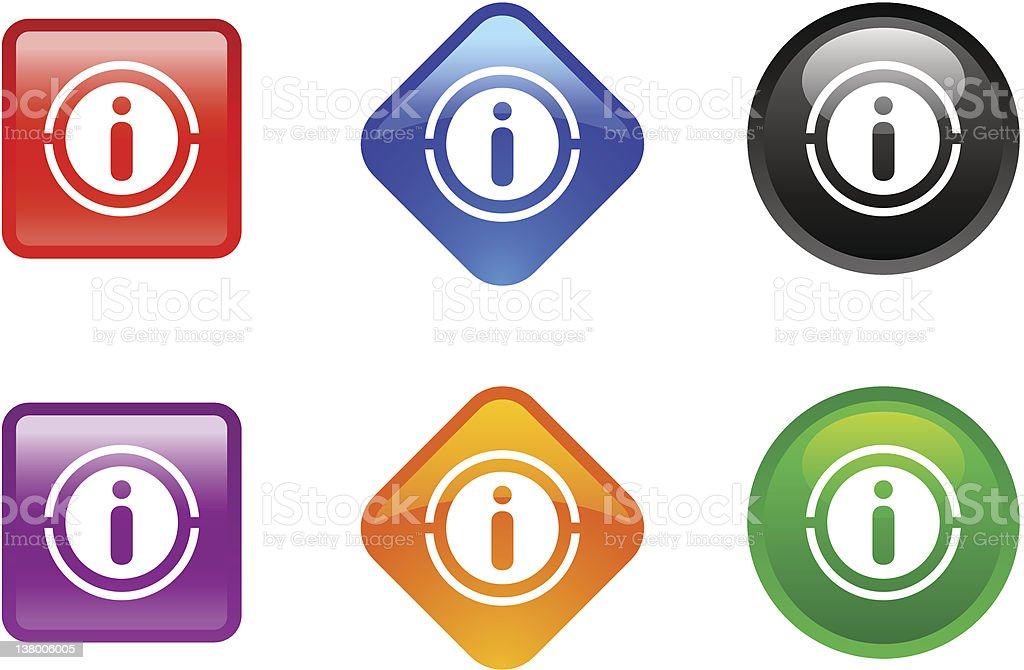 'Zee' Icon Series   Information royalty-free stock vector art