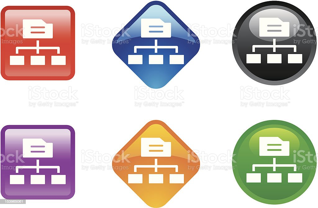 'Zee' Icon Series | Networking royalty-free stock vector art