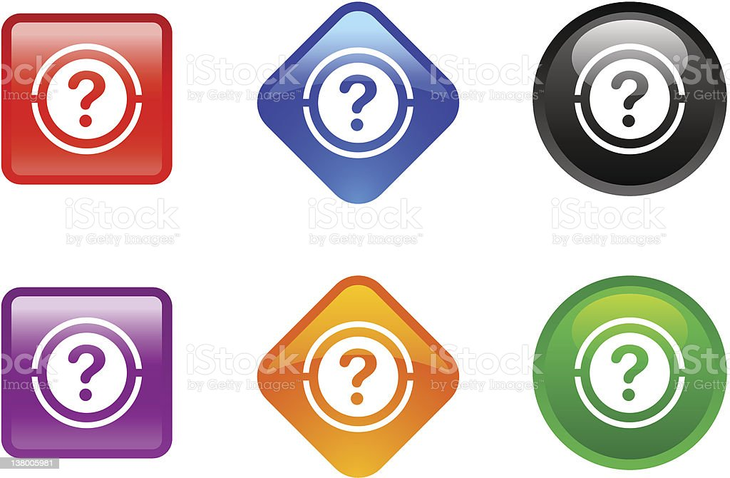 'Zee' Icon Series | Question royalty-free stock vector art