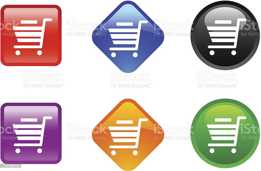 'Zee' Icon Series | Shopping Cart royalty-free stock vector art