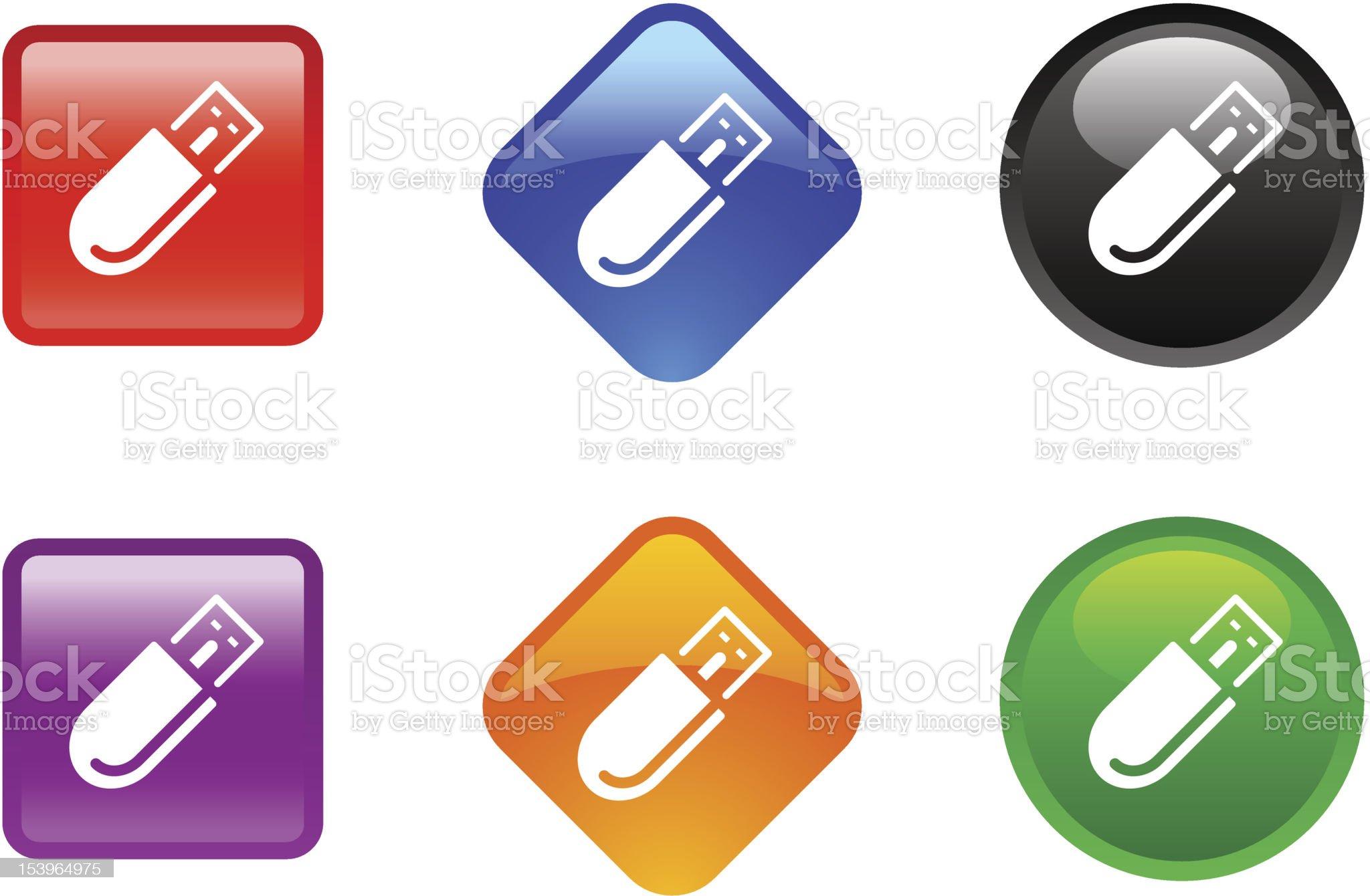 'Zee' Icon Series | USB Pen Drive royalty-free stock vector art