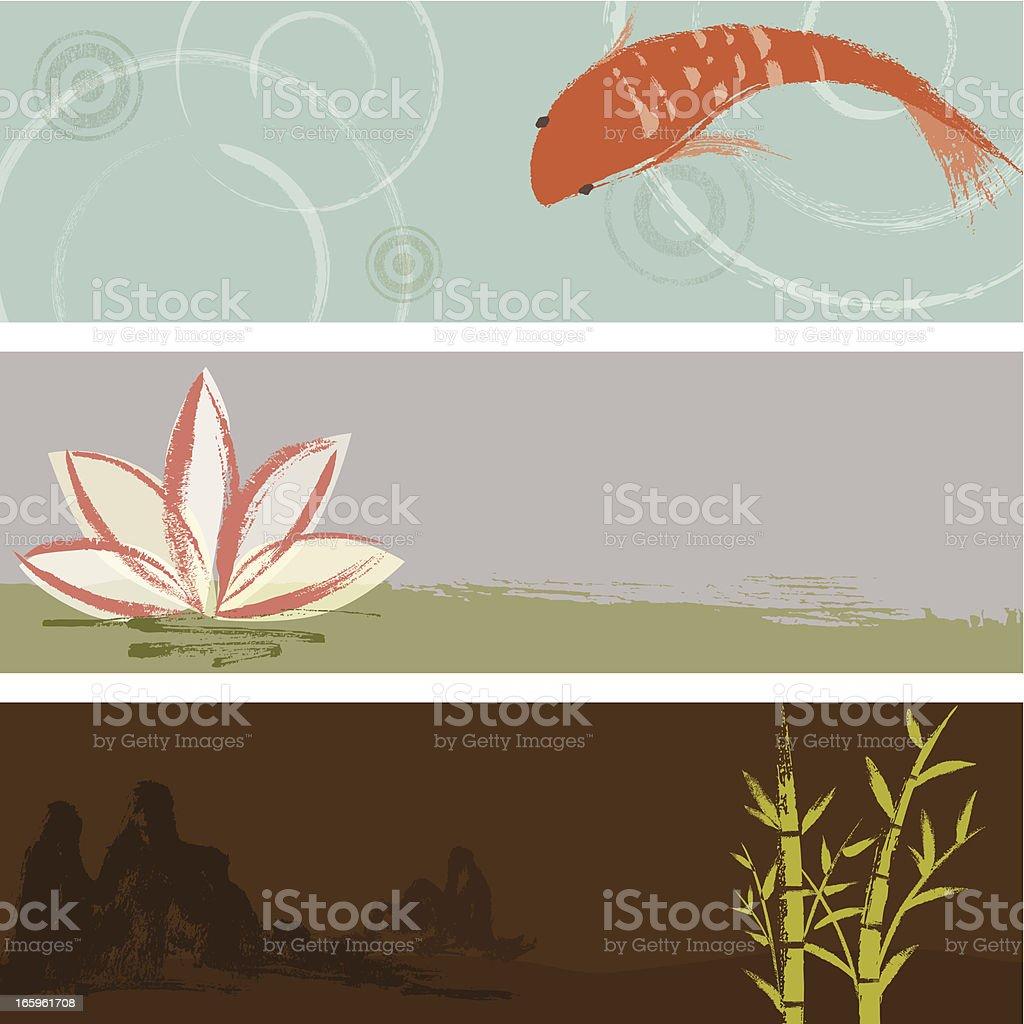 Zen Background Collection vector art illustration