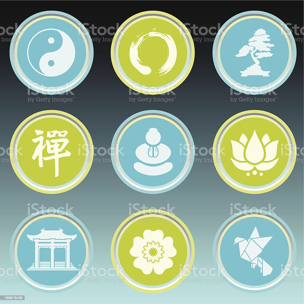 Zen Icon Set royalty-free stock vector art