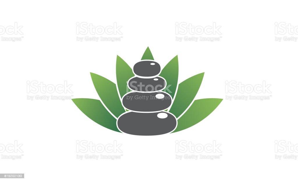Zen Spa Stone Symbol Design vector art illustration