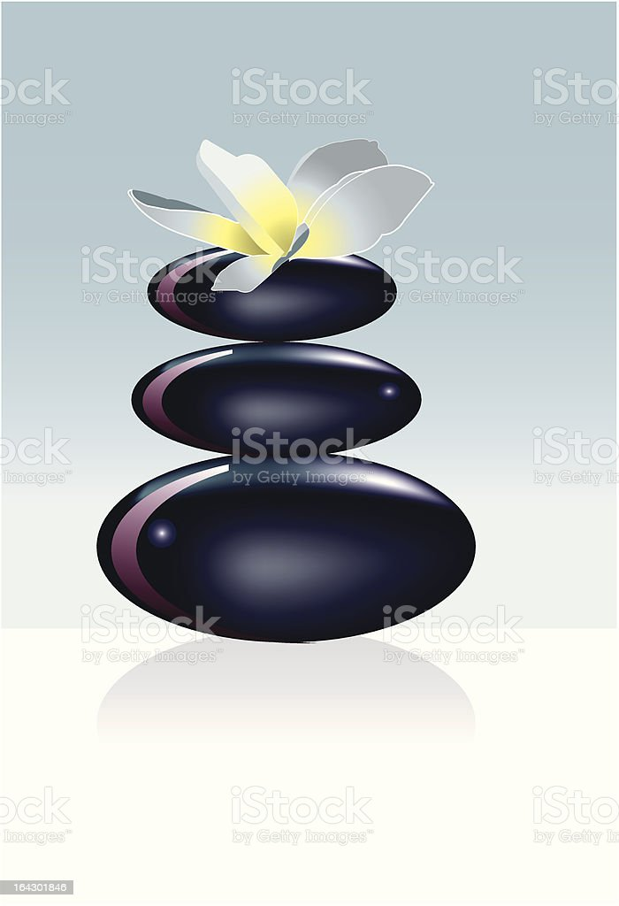 zen stone royalty-free stock vector art