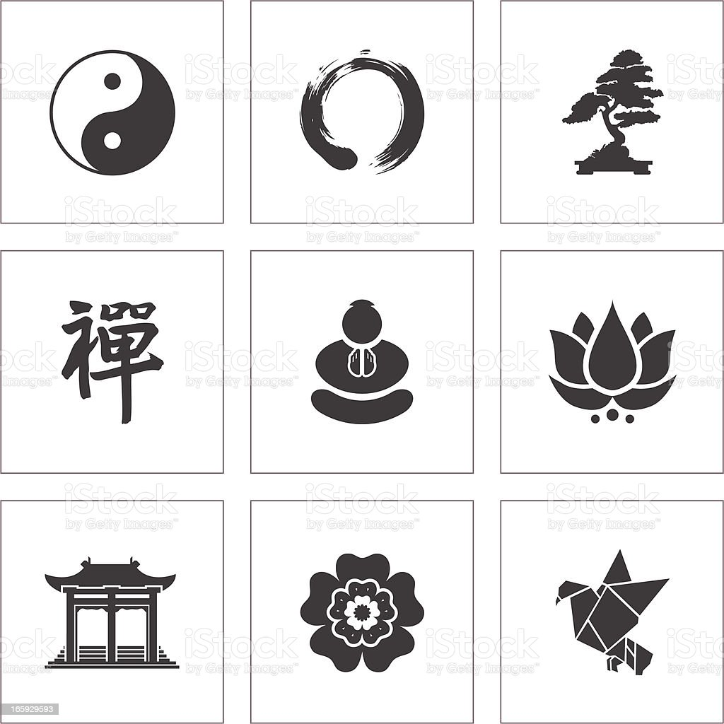 Zen Symbols vector art illustration