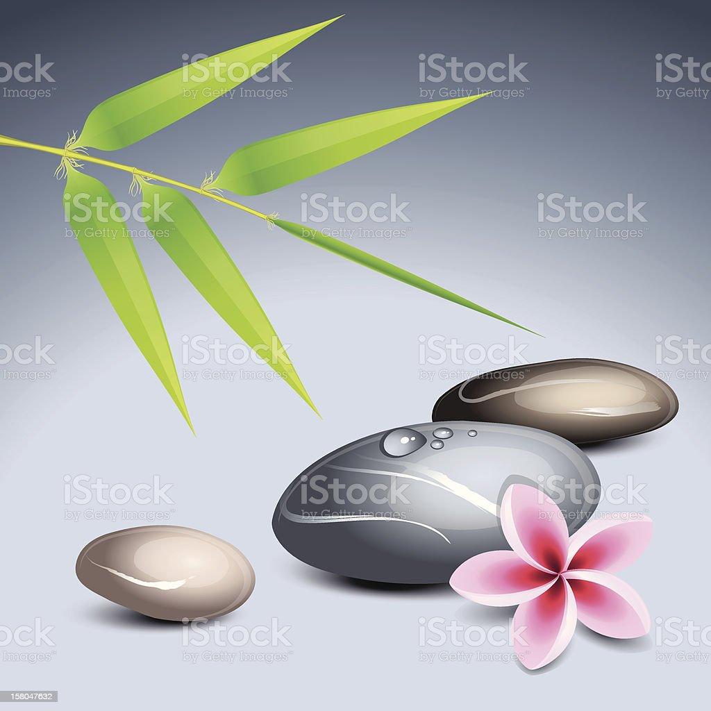Zen theme 2 vector art illustration