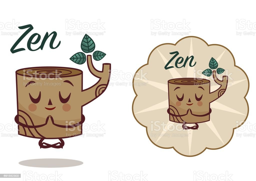 Zen vector art illustration