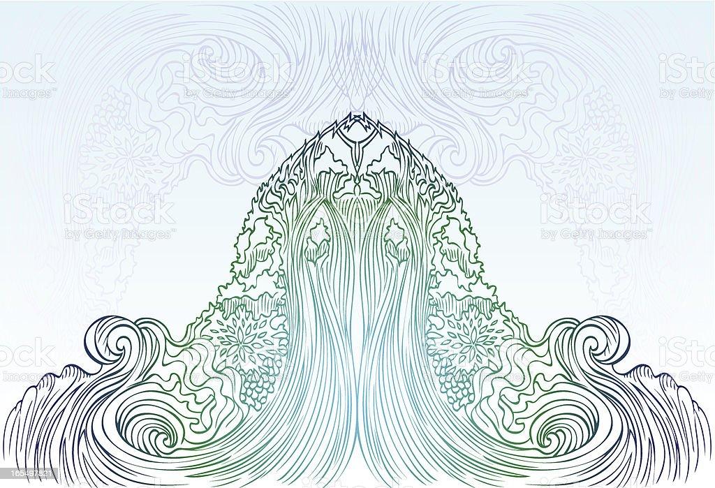 zen-Wasserfall Lizenzfreies vektor illustration