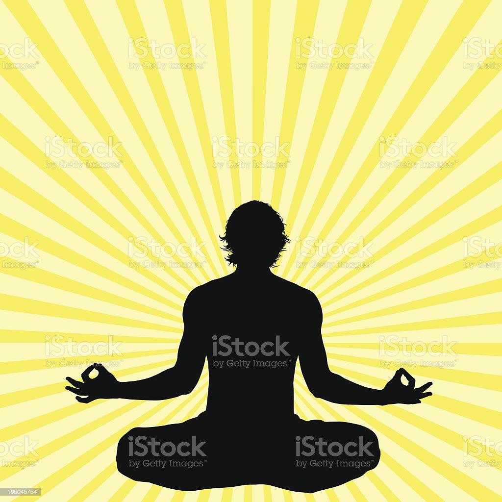Zen-like Silhouette royalty-free stock vector art