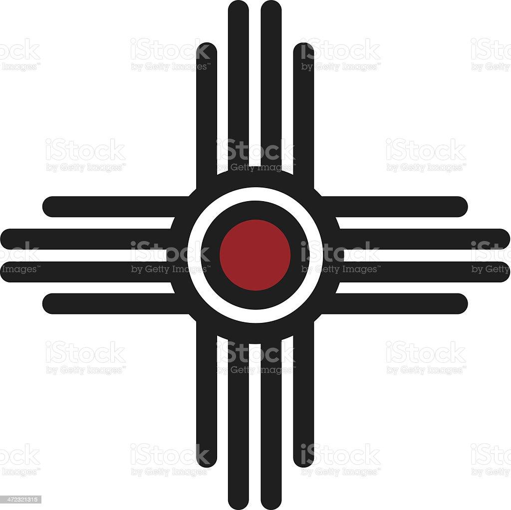 Zia Sun - Pueblo, New Mexico vector art illustration