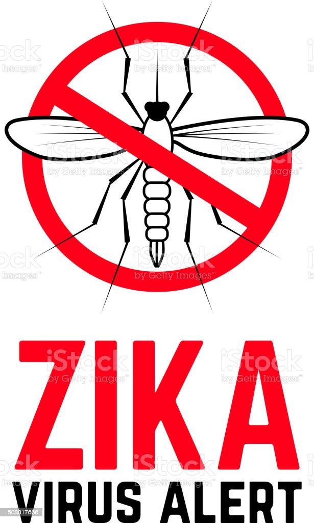Zika virus alert vector art illustration