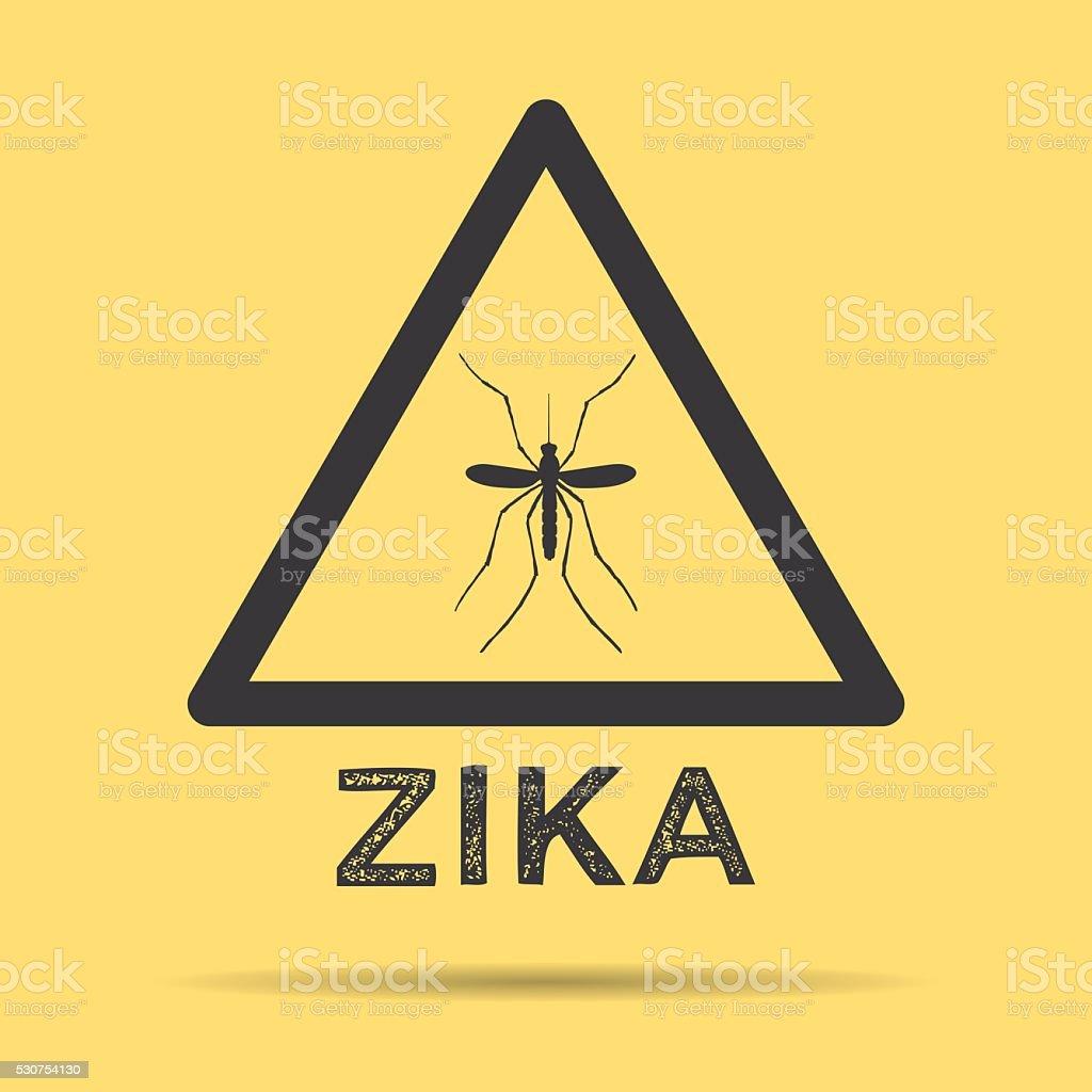 Zika virus warning symbol vector art illustration