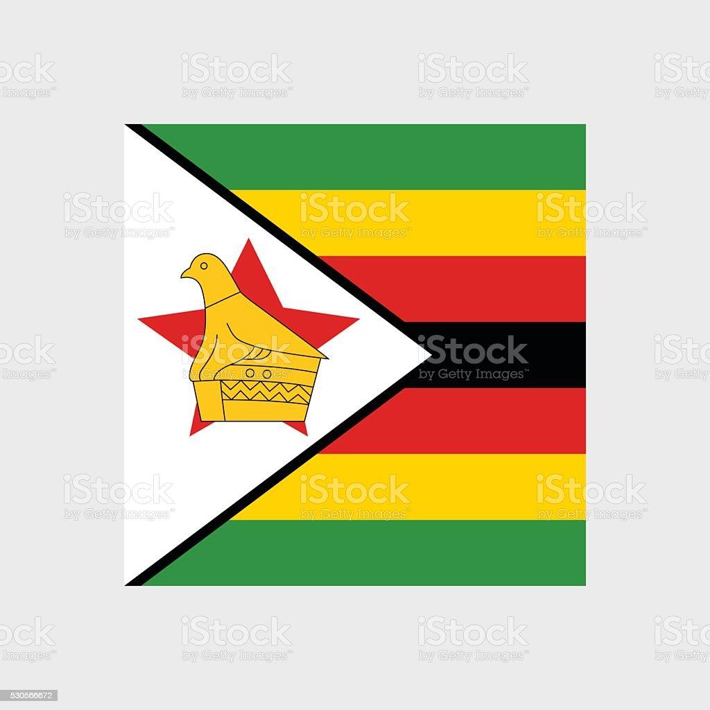 Zimbabwe flag vector art illustration