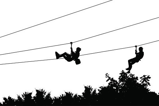 Zip Line Clipart : Zip line clip art vector images illustrations istock