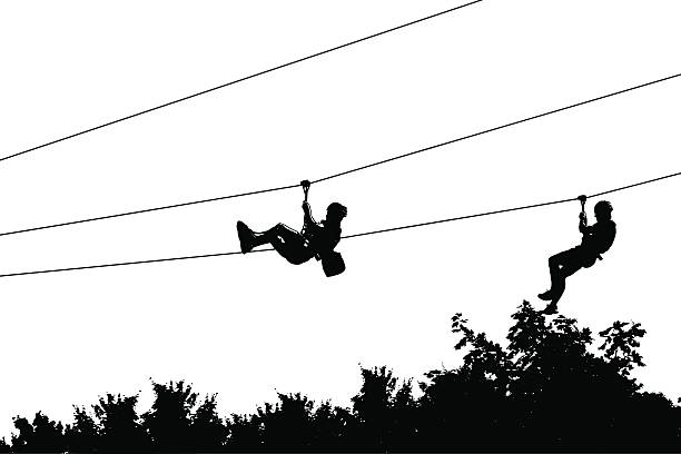 Line Art Zip : Zip line clip art vector images illustrations istock