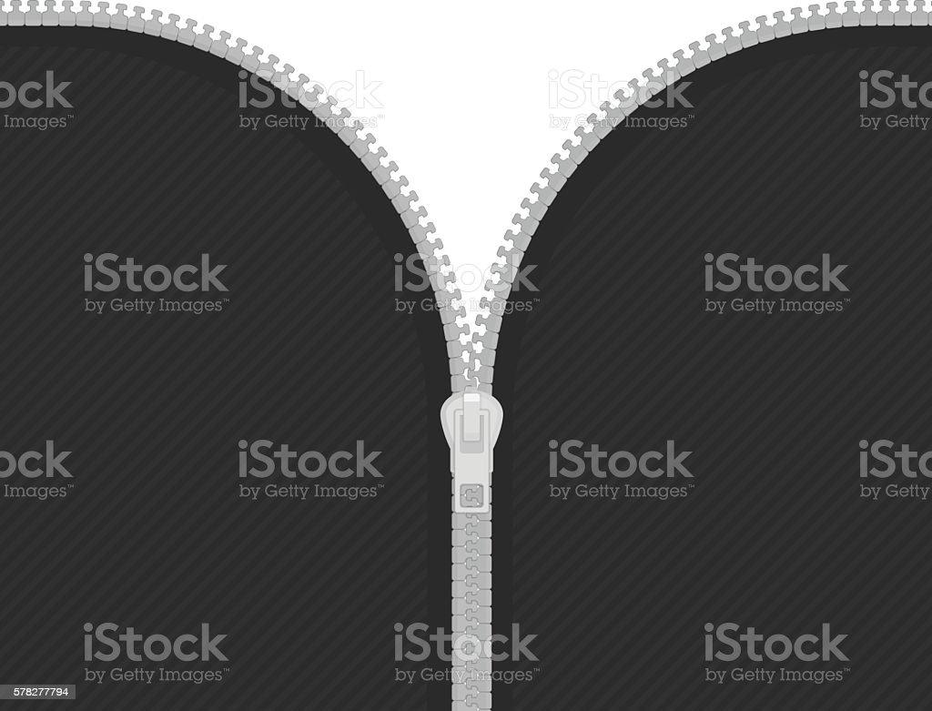 Zip on white background vector art illustration