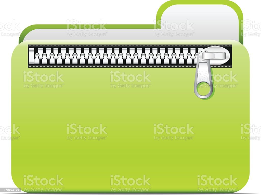Zipped folder royalty-free stock vector art