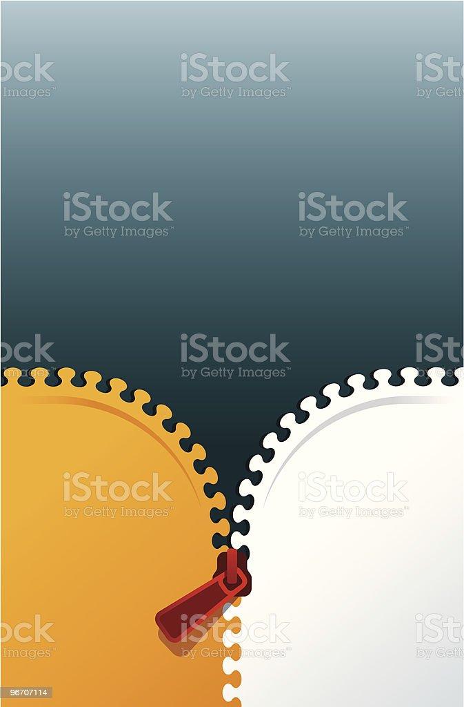 zipper background vector art illustration