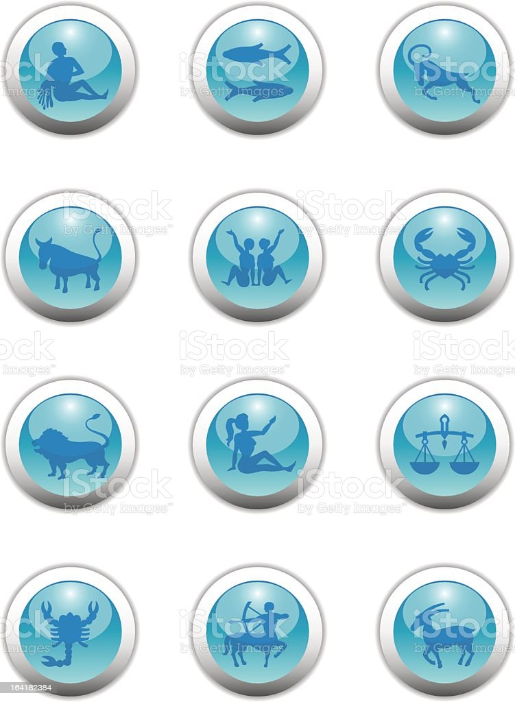 Zodiac Buttons ( Icons ) royalty-free stock vector art