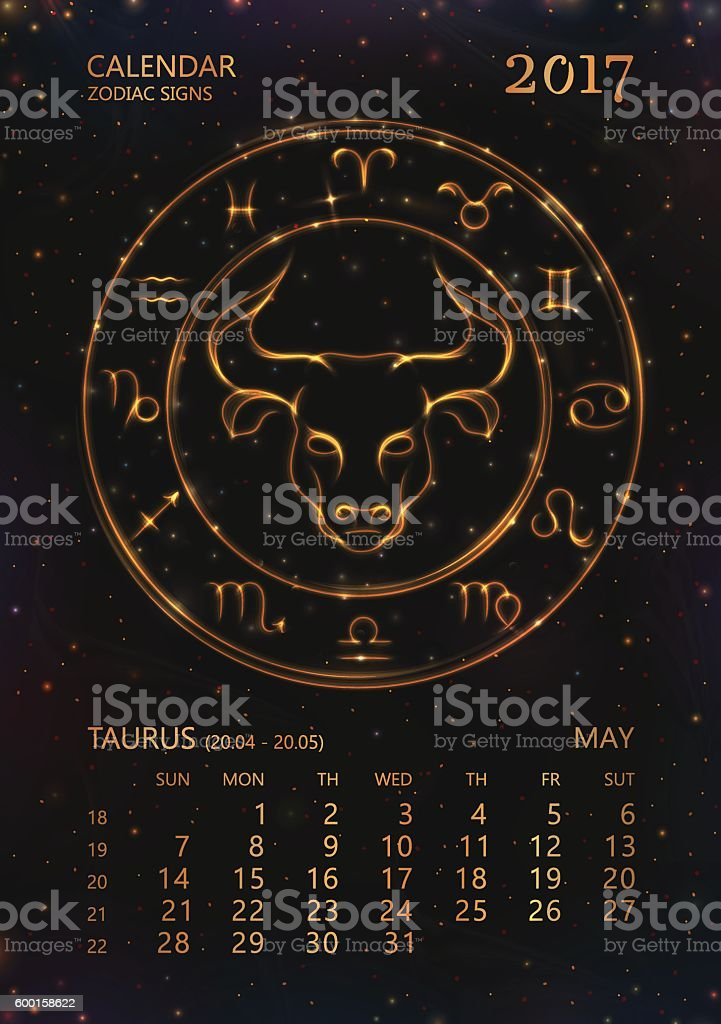 На тельца 2017 календарь