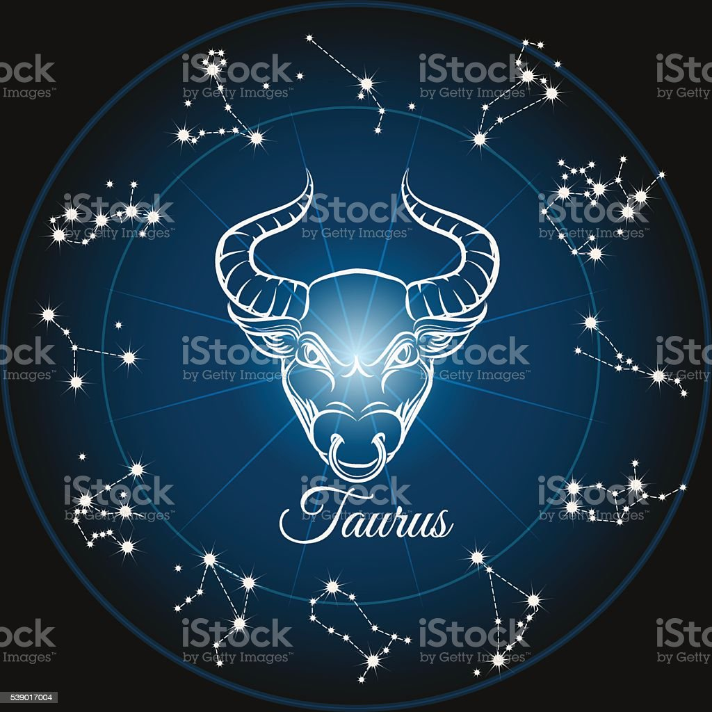 Zodiac sign taurus vector art illustration