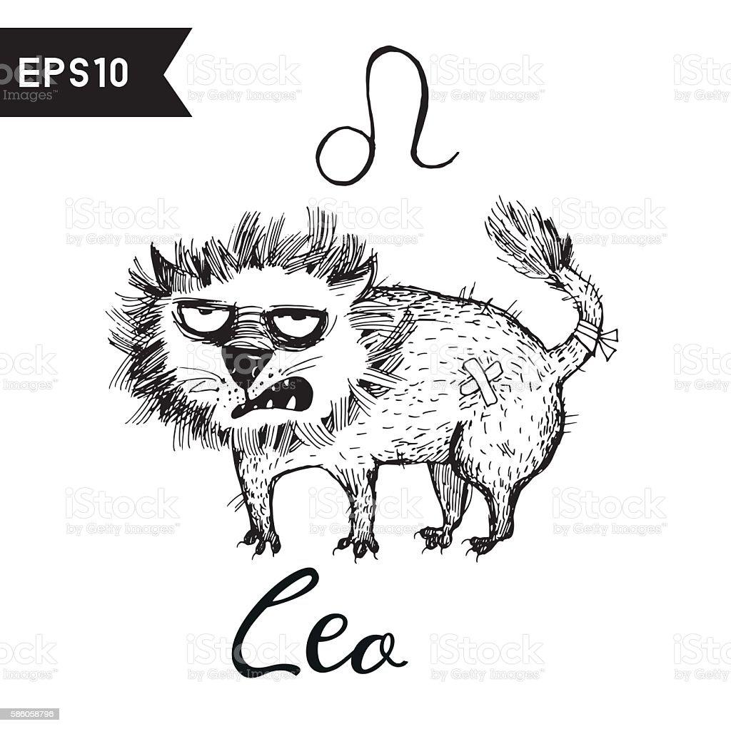 zodiac sign vector art illustration