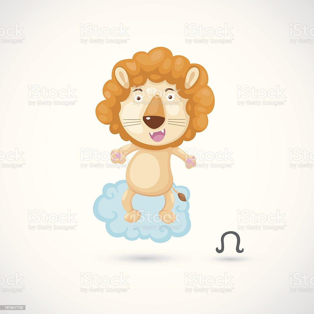 Zodiac signs - Lion Illustration royalty-free stock vector art