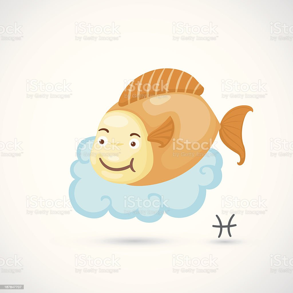 Zodiac signs - Pisces Illustration royalty-free stock vector art
