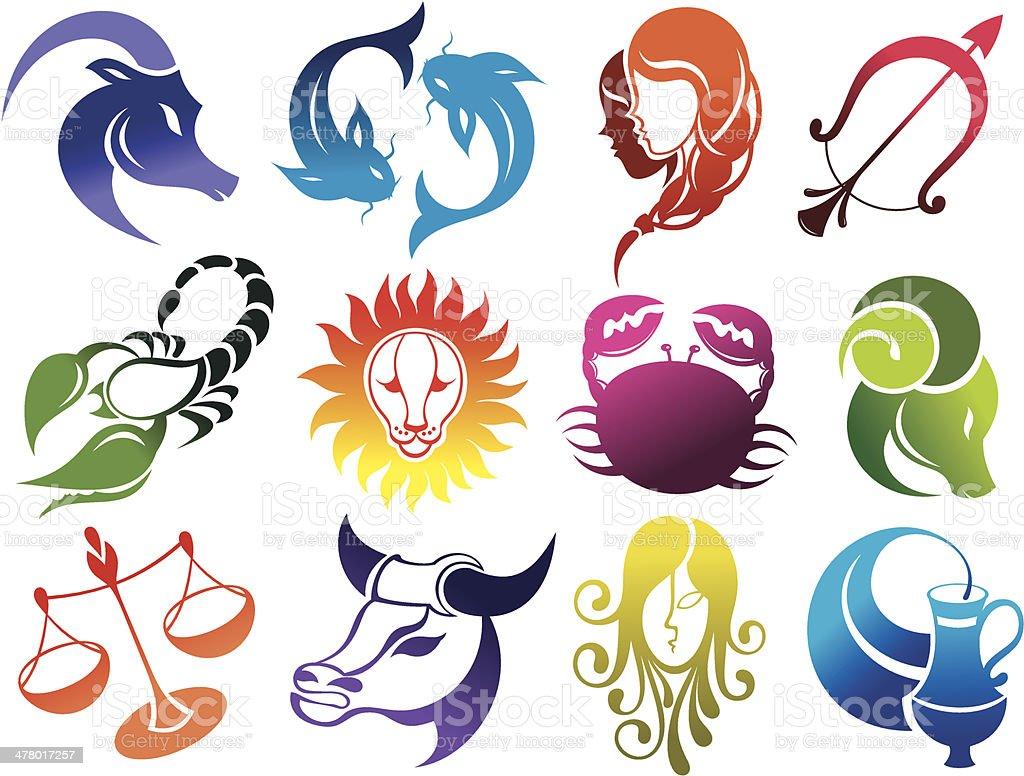 Zodiac signs royalty-free stock vector art