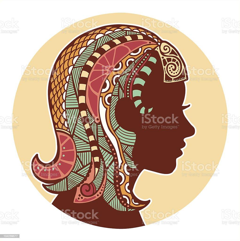 Zodiac signs - Virgo (colored) royalty-free stock vector art