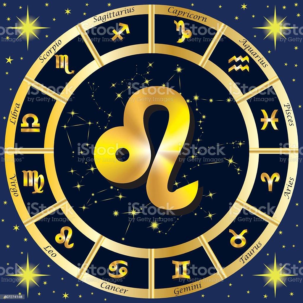 Zodiac Signs, Zodiac constellations. Leo. Vector illustration. vector art illustration