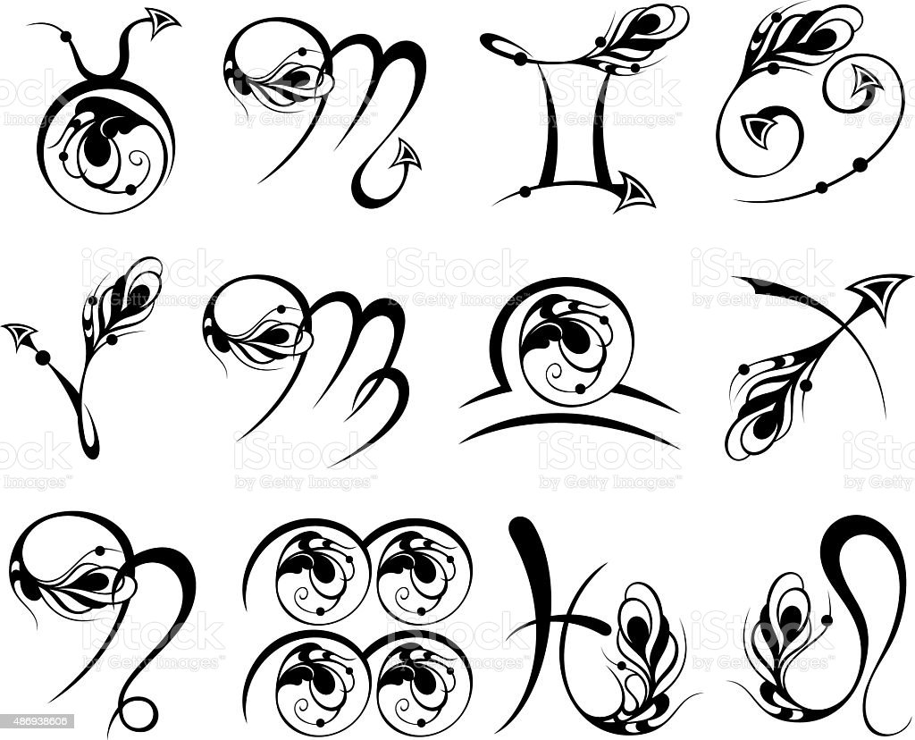 Zodiac Symbol icons vector illustration vector art illustration